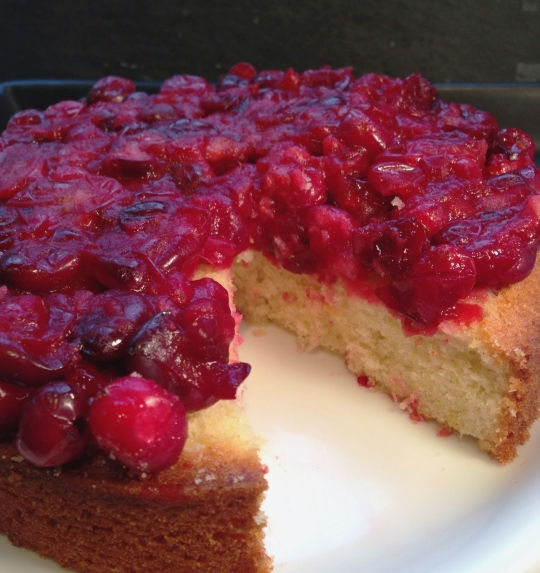 Cranberry and Orange Upside Down Cake
